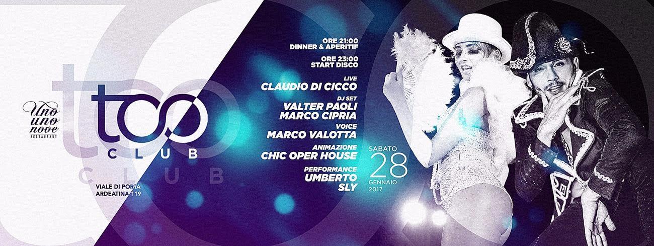 Too Club Sabato 28.01.2017 - Discoteca Roma
