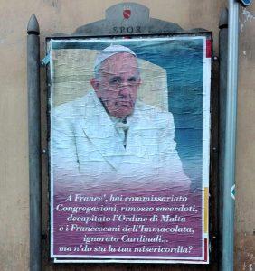 Manifesti Contro Papa Francesco