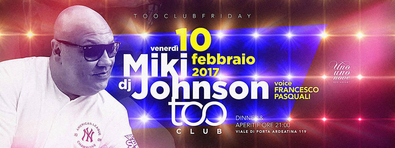 Too Club Roma Venerdi 10 febbraio 2017