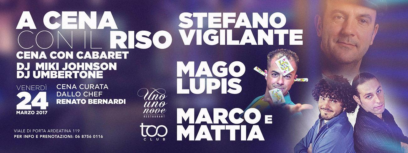 Cabaret Roma Too Club - Venerdi 24 Marzo