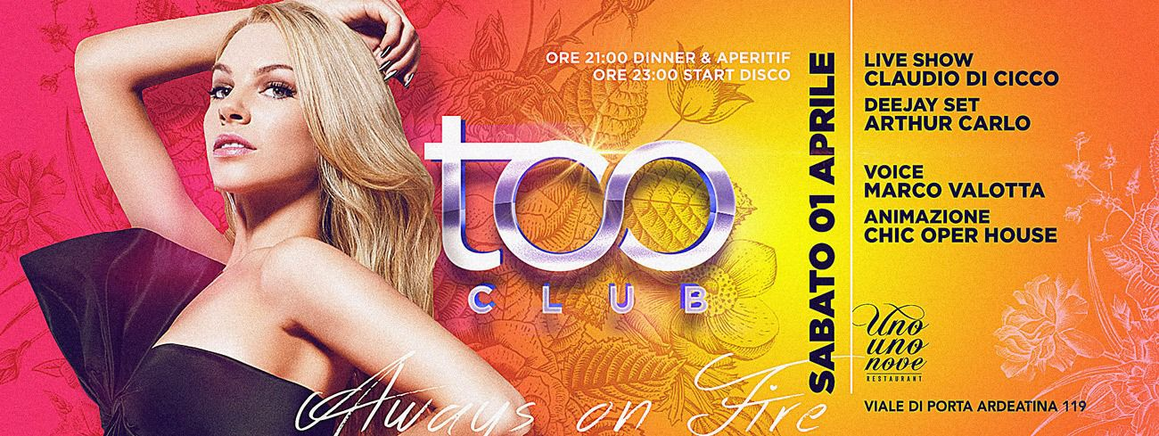 Too Club Roma Sabato 01 Aprile 2017