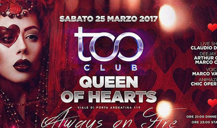 Too Club Roma Sabato 25 Marzo