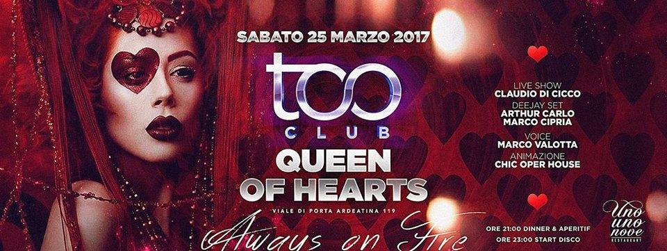 Too Club Roma Sabato 25 Marzo