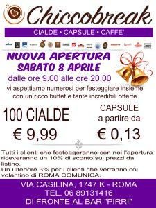 ChiccoBreak Cialde Capsule Caffe Nuova Apertura