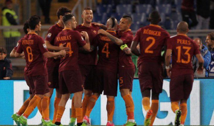 Roma Empoli 30 giornata del campionato di Serie A