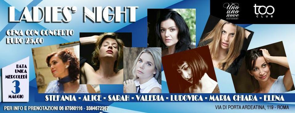 Too Club Mercoledì 3 Maggio Lady's Night