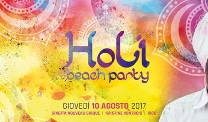 Holi beach party al Singita