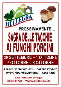 Sagra delle Tacchie ai Funghi Porcini a Bellegra