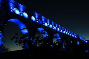 Tramonto a Roma sugli acquedotti