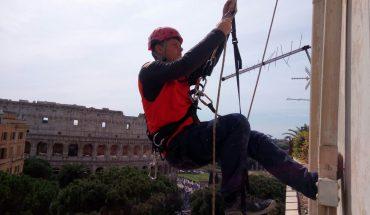 Edilizia su fune Roma