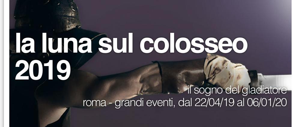 Luna sul Colosseo 2019