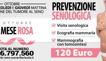 Ottobre 2019 il mese della prevenzione a Nuova Villa Claudia,